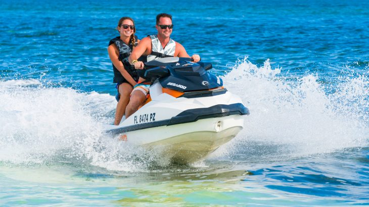 Couple on a jet ski in Key West