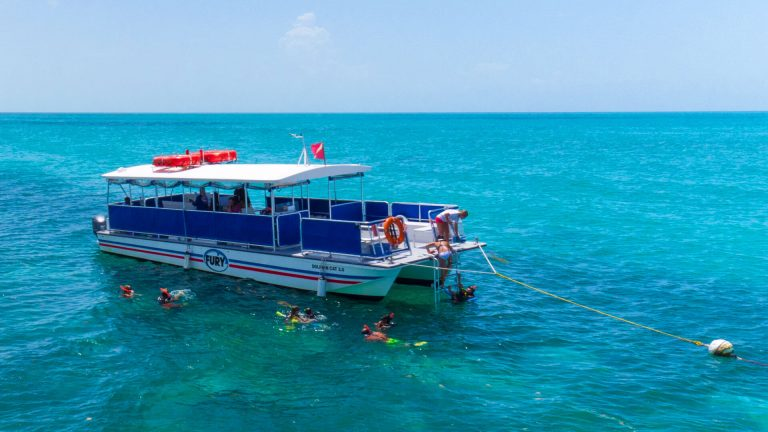 Fury Corinthian Boat with snorkelers