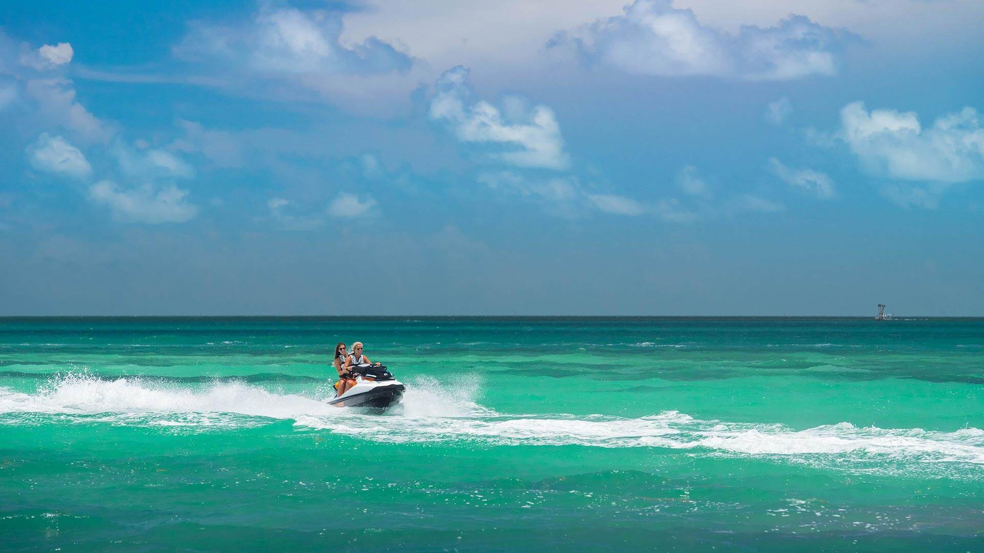 Girls on jet skis in Key West