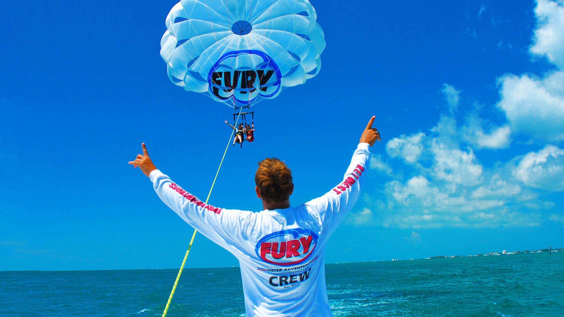 parasailing in key west with fury