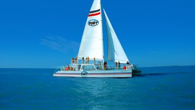 People aboard the Fury sail boat in sunny Key West