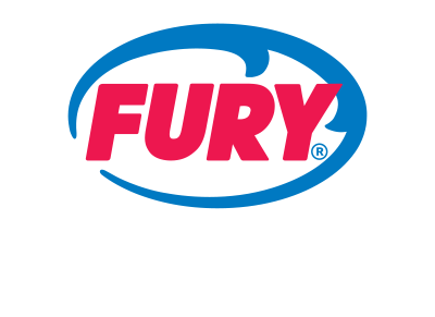 Fury logo made up of an oval shaped wave and the word 'FURY' inside of it. Below are the words 'WATER ADVENTURES KEY WEST' stacked on two lines.