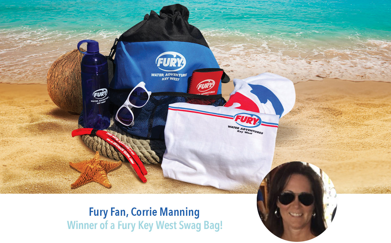 fury swag bag winner corrie manning