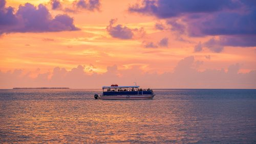 Fury Key West Corinthian Boat in Key West Sunset
