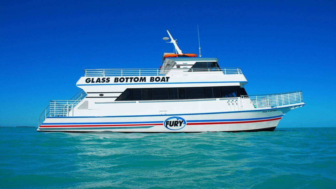 Image of the Fury Glass Bottom Boat in Key West