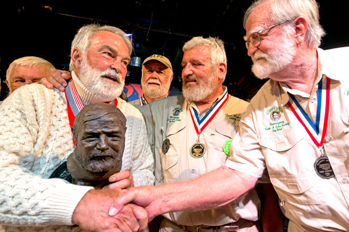 Ernest Hemingway look-a-likes at Hemingway Days Event