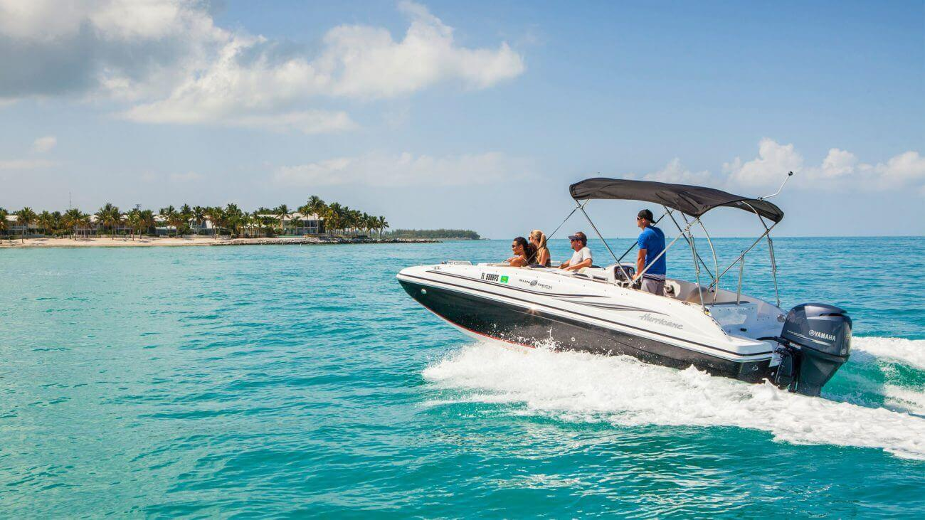 Image of a Hurricane Sundeck Sport Boat in Key West