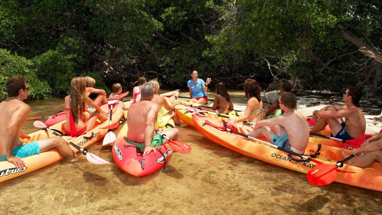 Image of people on a kayak tour in Key West