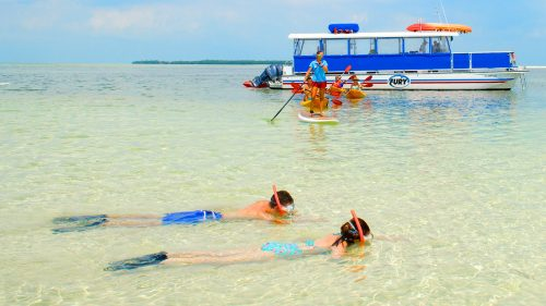 People snorkeling and kayaking in Key West