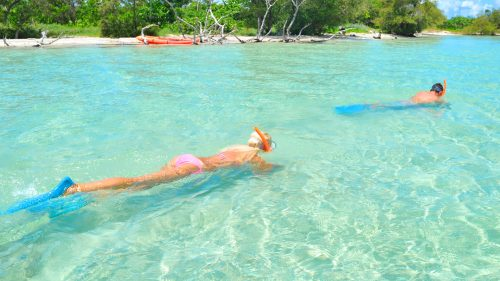 Image of couple snorkeling in Key West