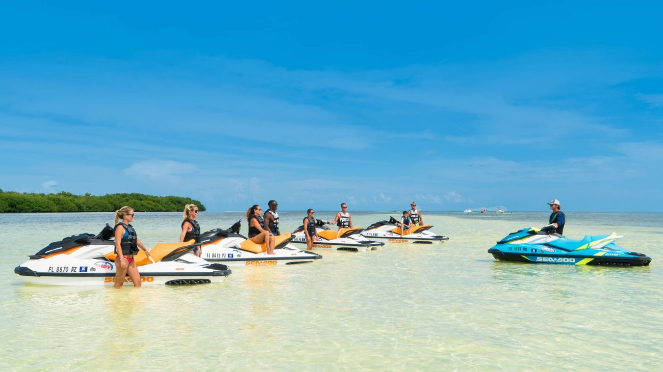 Image of couple jet skiing in Key West