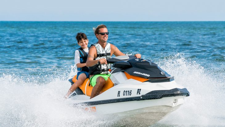 people riding jet skiis in Key West