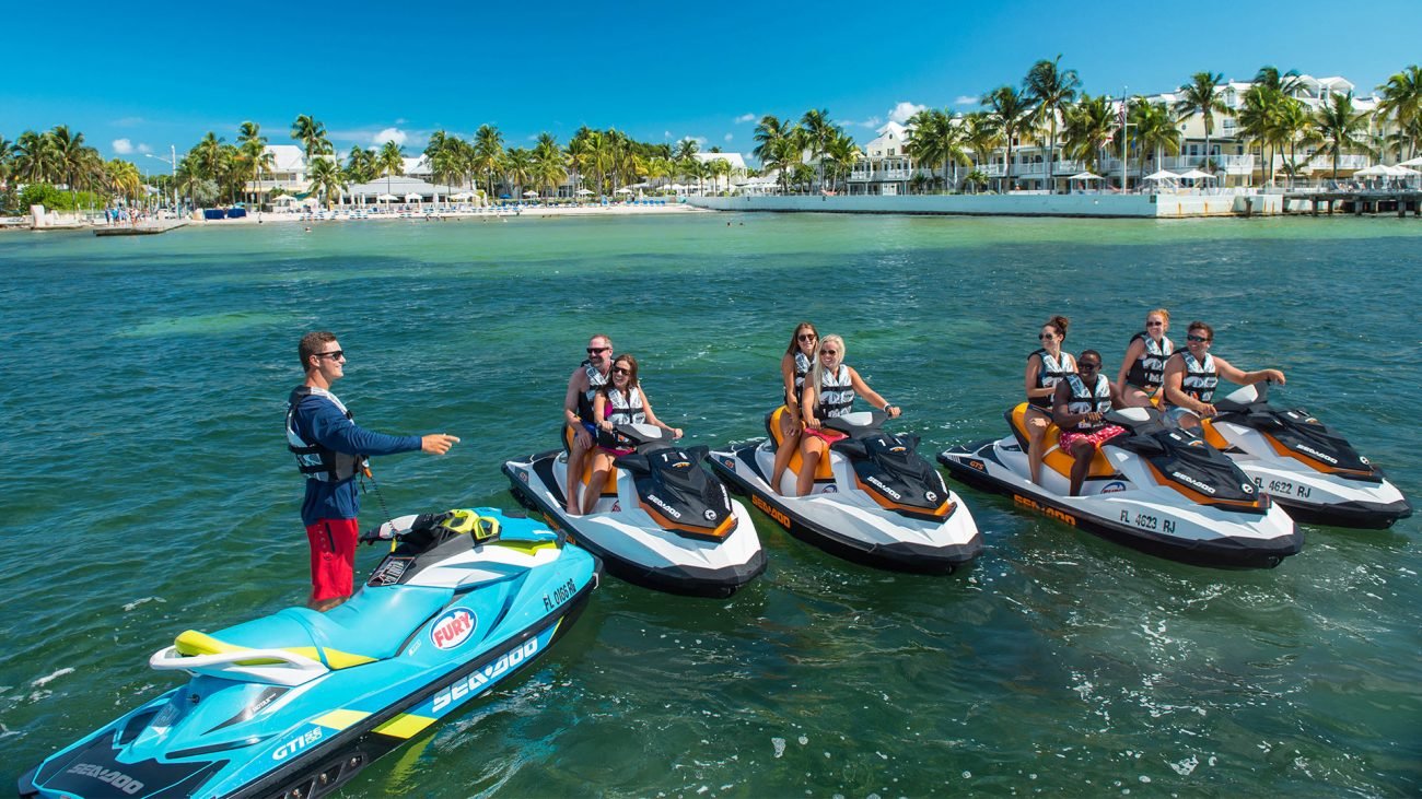 A jet ski fury instructor ready to go out with a group