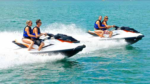 people jet skiing in Key West