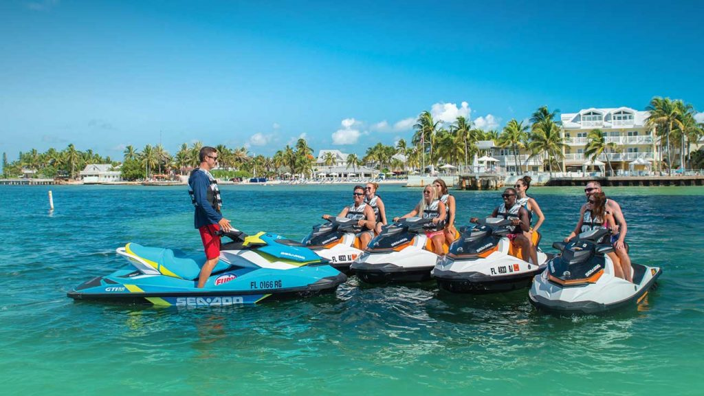 Fury group on jet skis in Key West