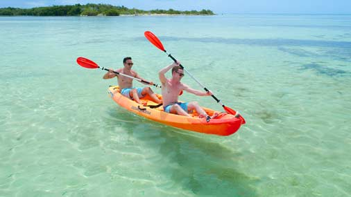 Key west snorkeling parasailing jet ski sunset for Key west kayak fishing
