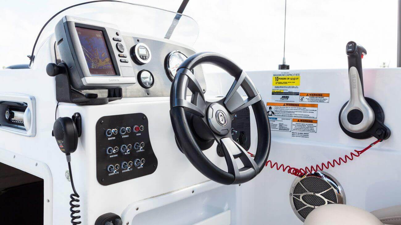 Image of a boat rental captain console