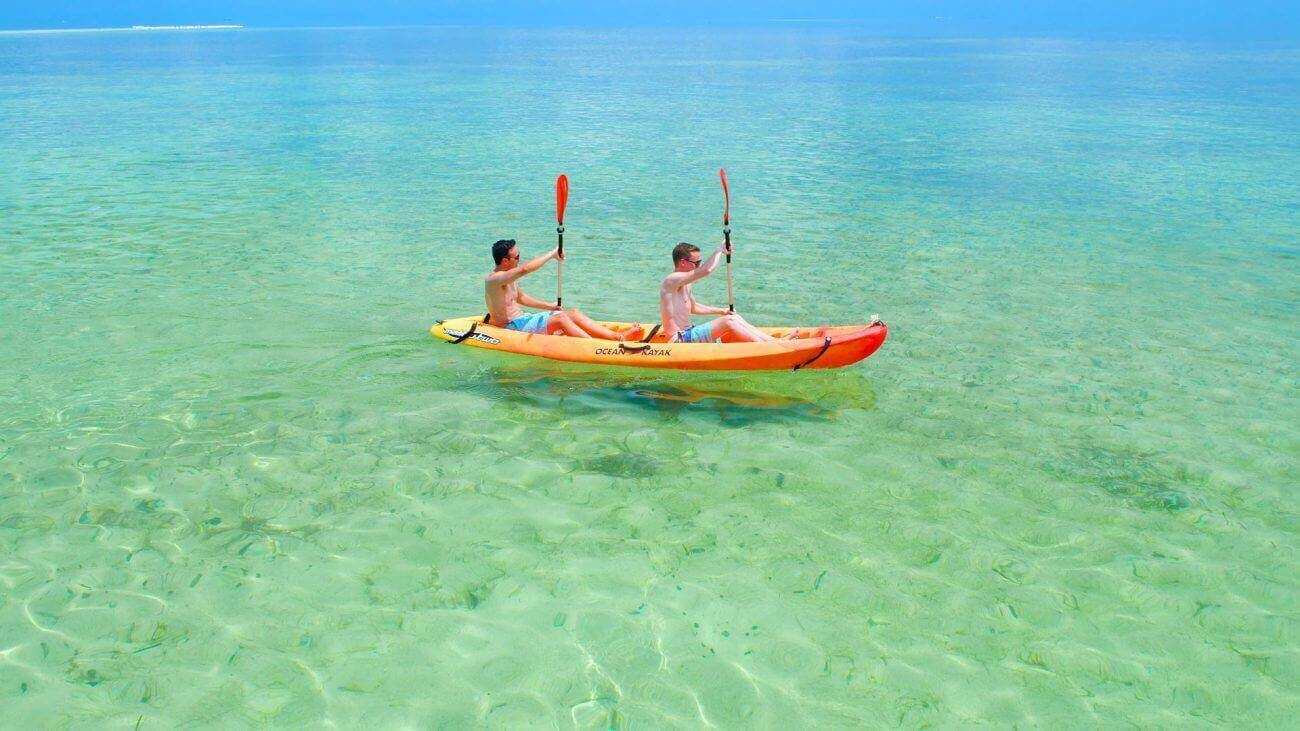Image of guys kayaking in Key West