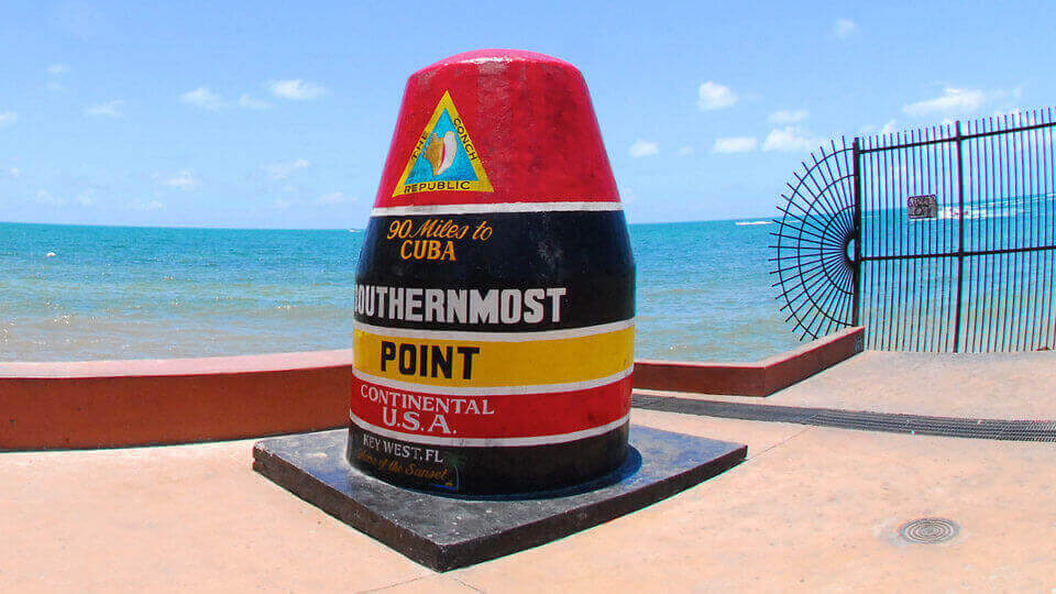Key West Southernmost Buoy View
