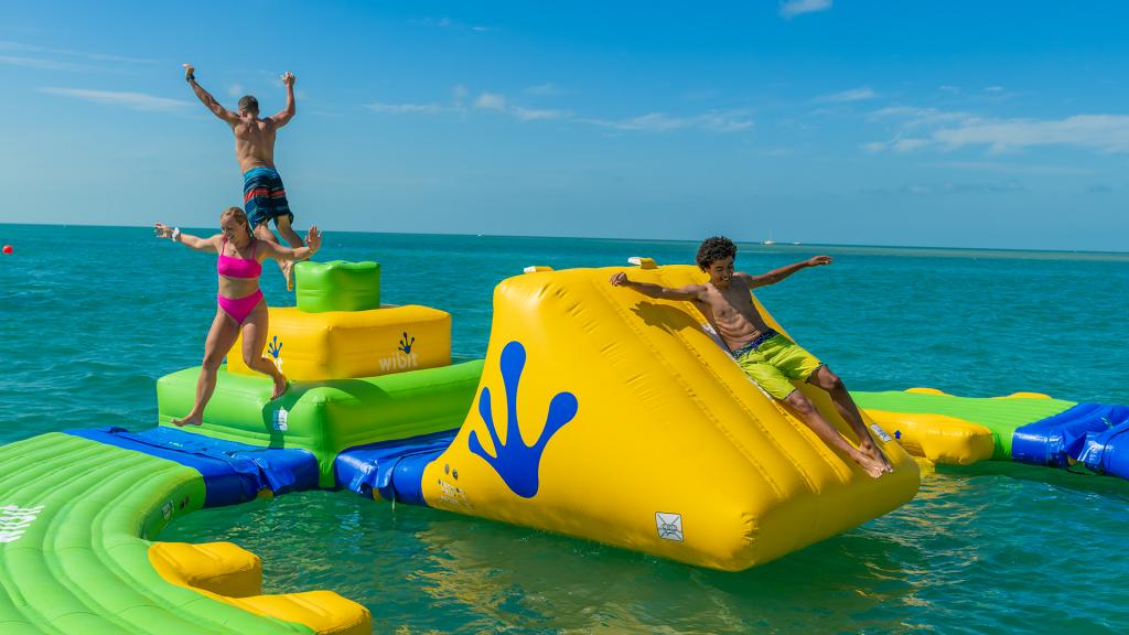 People enjoying Fury's UA Water Park Slide