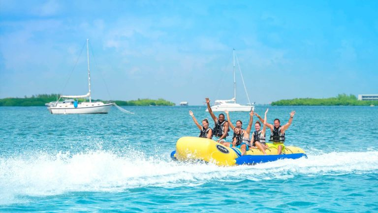 Image of people on the Fury Ultimate Express banana boat ride