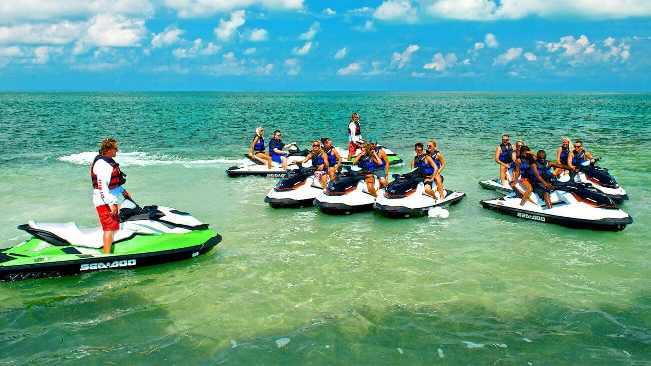 Image of people jet skiing on the Fury Ultimate Express