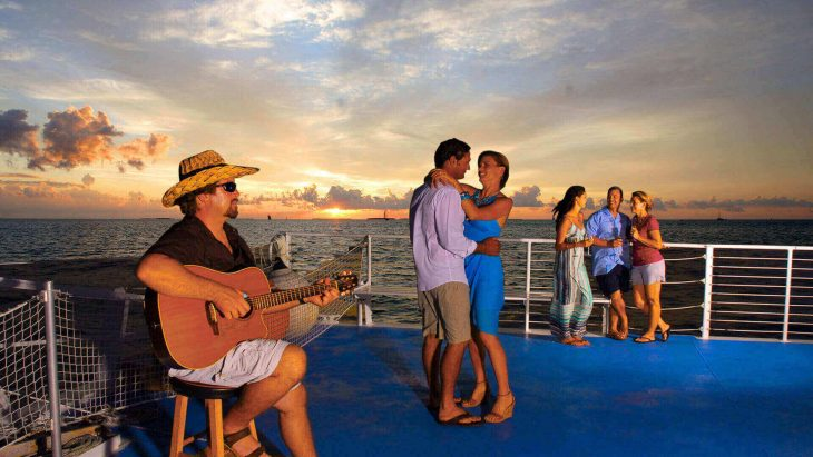 Image of people dancing on the Fury Live Music Sunset Cruise in Key West