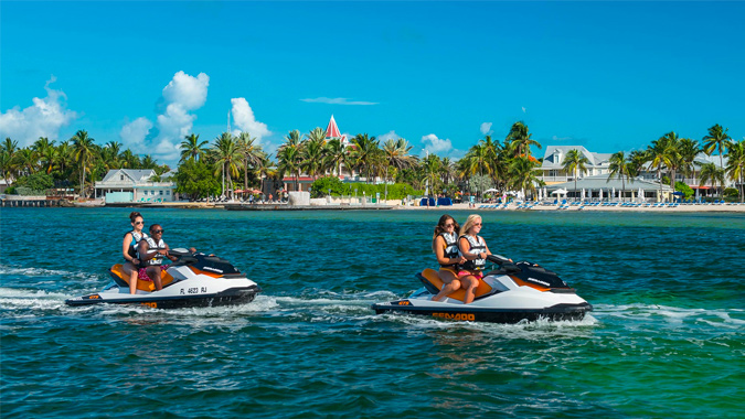 Fury guests enjoying jet ski rides in Key West
