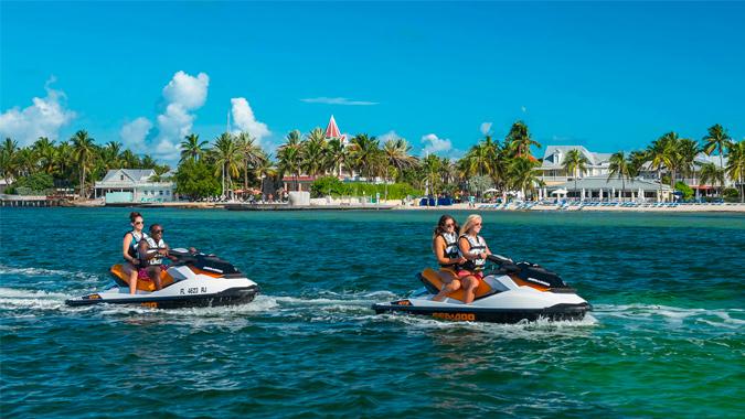 Fury guests enjoying jet ski rides in Key West