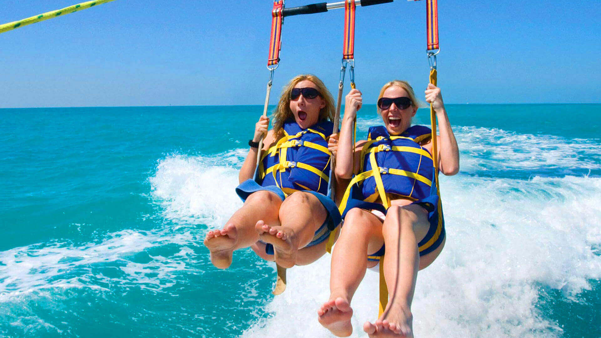 Image of girls parasailing in Key West