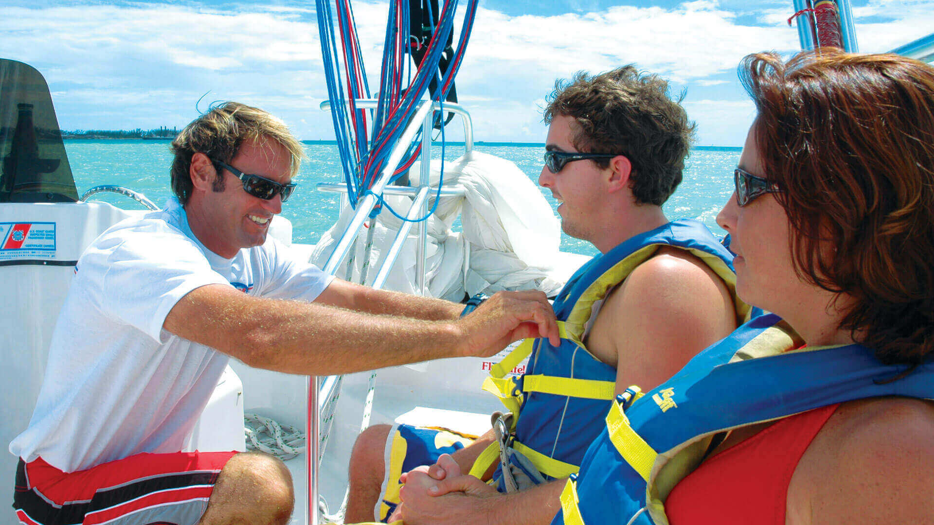 Image of people getting ready to parasail in Key West