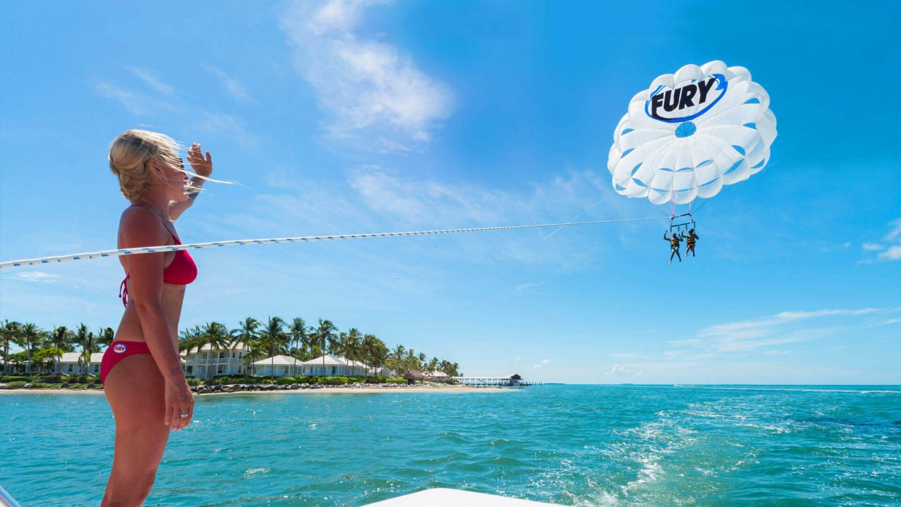 Image of girl parasailing in Key West