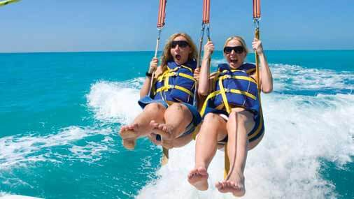 Image of women parasailing in Key West