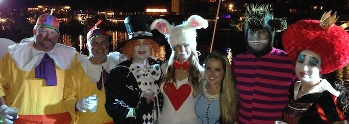 People dressed as Alice in Wonderland's cast in Key West