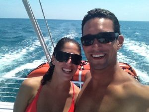 Selfie of man and woman on a boat