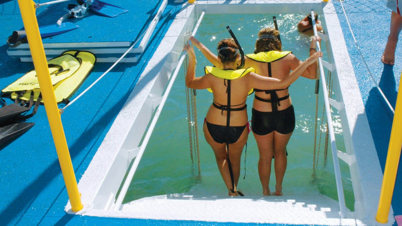 Image of girls on the Fury Reef and Ritas Snorkel Tour
