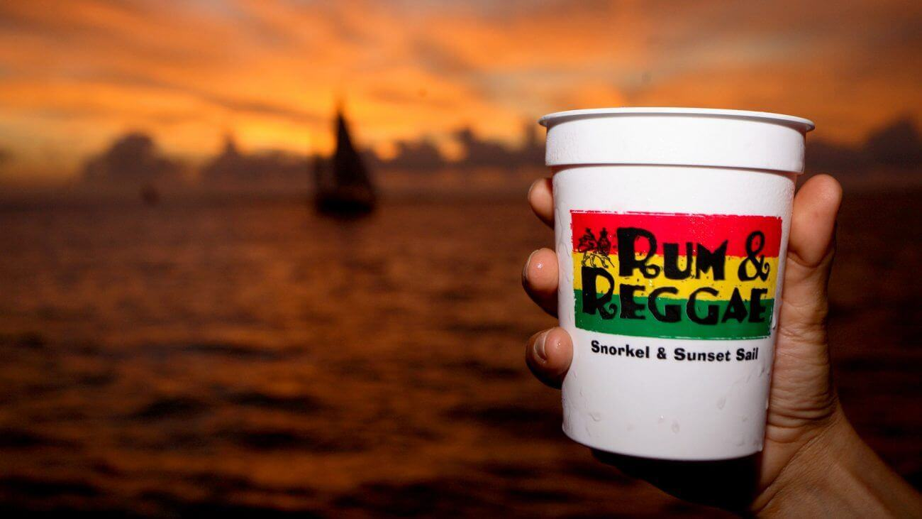 Image of the Rum and Reggae Snorkel and Sunset Sail
