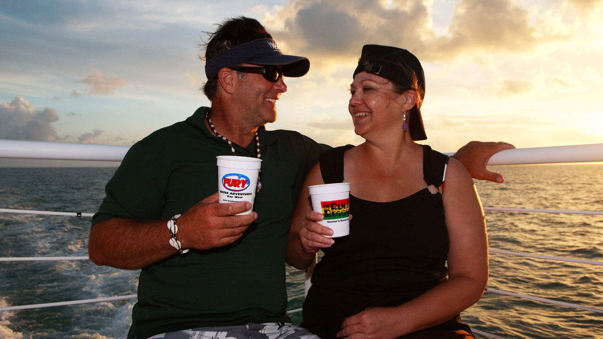 Image of couple on the Rum and Reggae Snorkel Tour