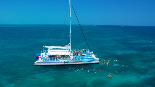 Image of people snorkeling on the Fury Snorkel Tour