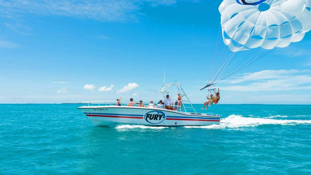 Parasail with a boat in Key West