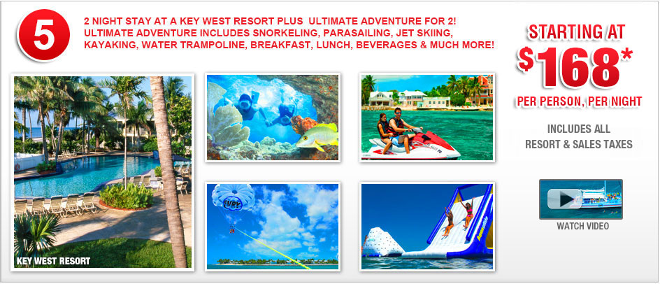 Key West Vacation Packages With Your Choice of Fury Water Adventure