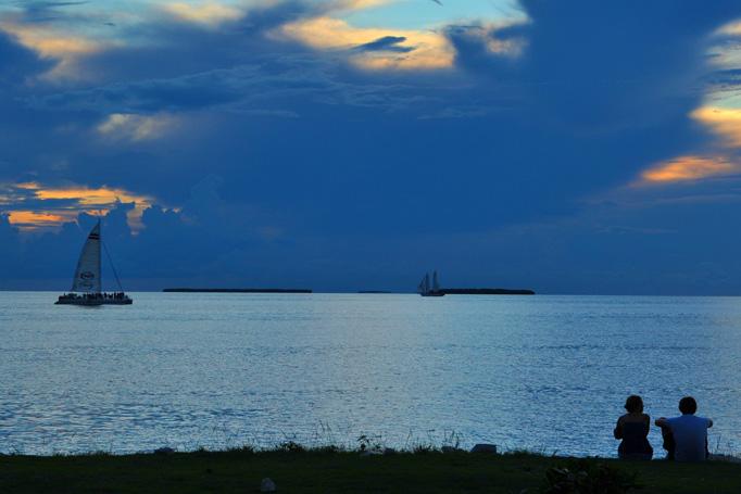 fury catamaran at dusk