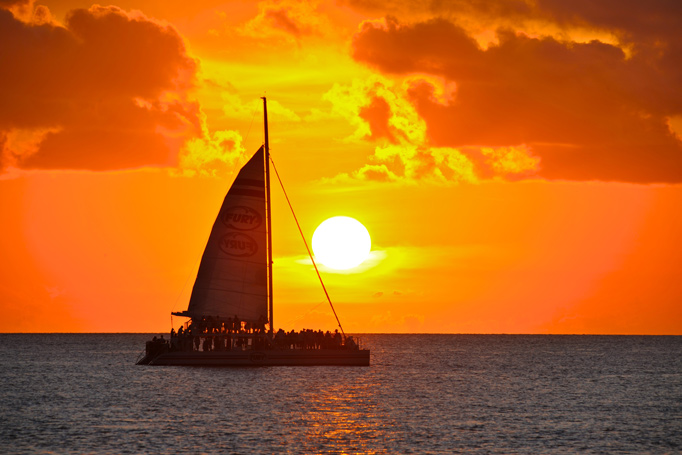 Fury's sunset sail in Key West