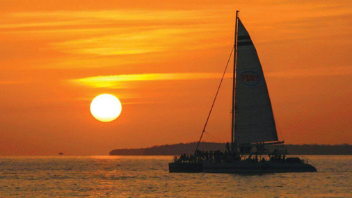 sunset sail cruise
