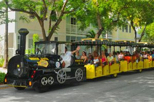 Image of the Conch Tour Train in Key West