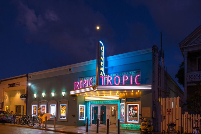 Tropic Cinema's entrance