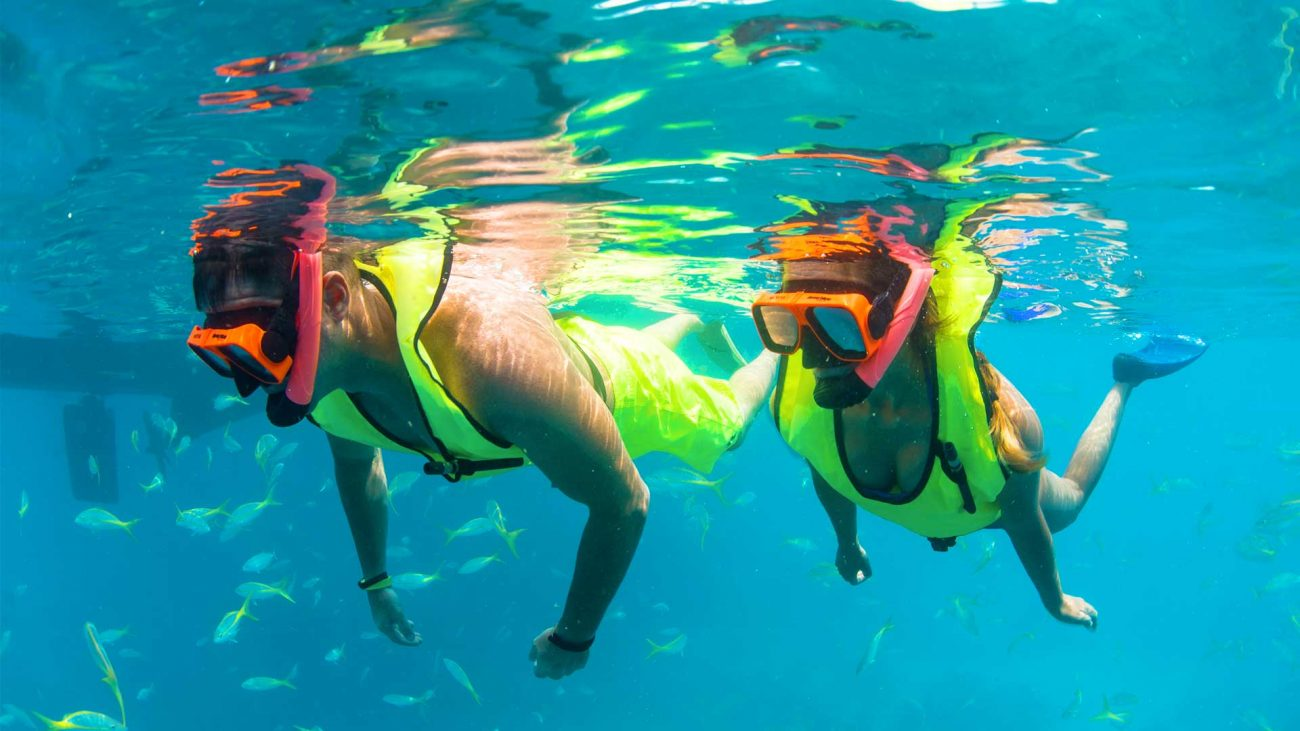 Image of people snorkeling on the Fury Ultimate Adventure